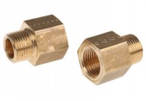 Adaptor fittings with male-female screws